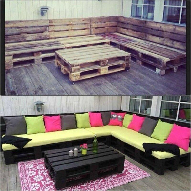 Fabriquez votre propre salon de jardin à partir DE PALETTES ! - Les ...