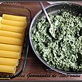 Cannellonis farcis aux épinards et à la ricotta