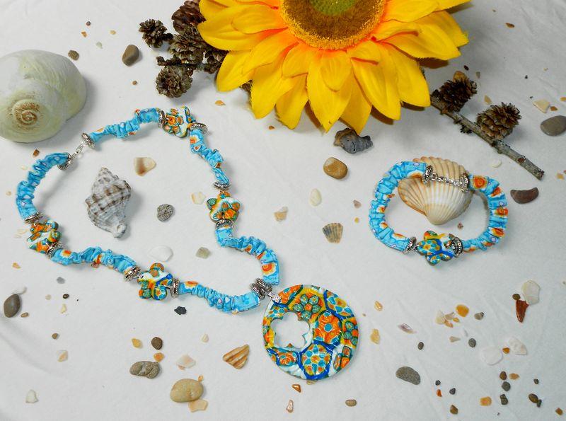 Parure Romantic Flower Bleutée (3)