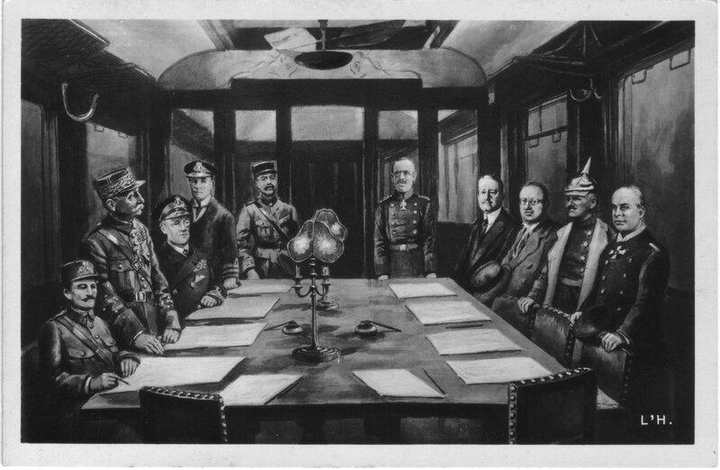 CPA Signature de l'armistice 4