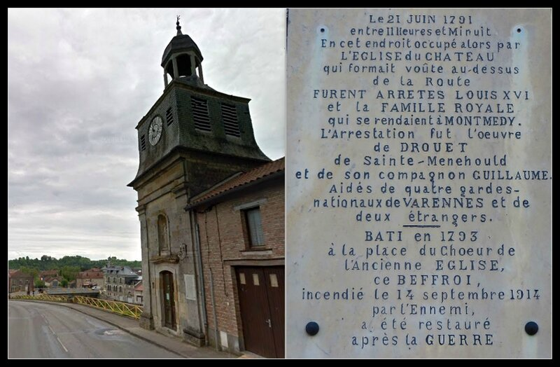 Varennes-en-Argonne plaque beffroi