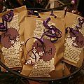 Sachets de chocolats pour table de Noël - cylaur