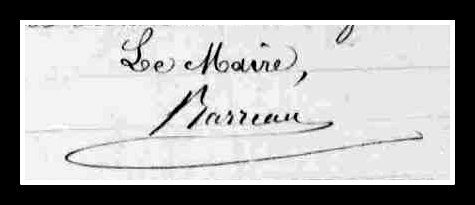 signature maire de Saint-Mathurin