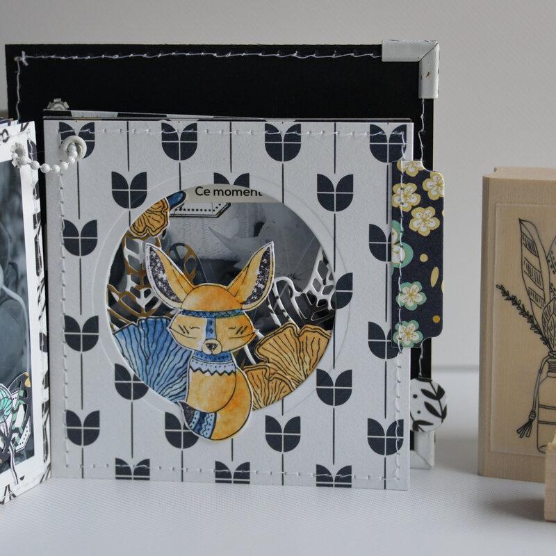 mini carré la vie est tellement belle - collection Esprit Folklore- octobre18- devant page#13-claire- scrapathome- Chou&Flowers