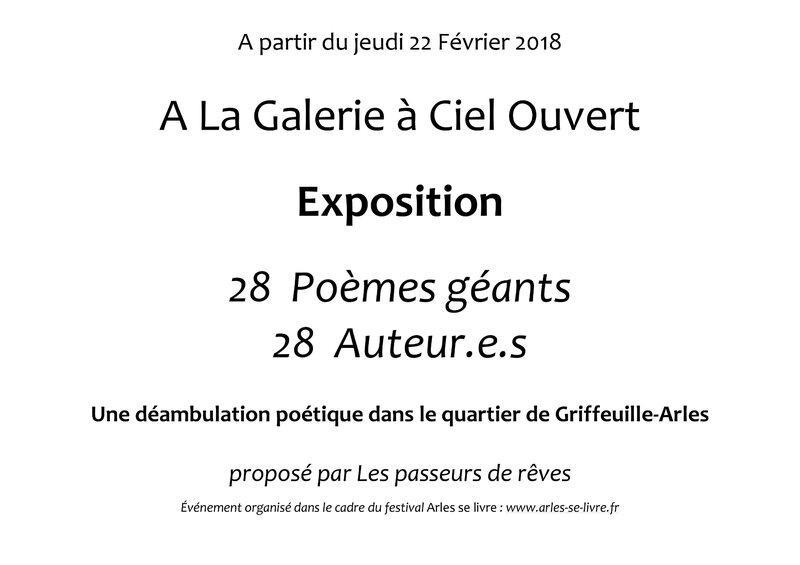 Poémes géants - Galerie à Ciel Ouvert