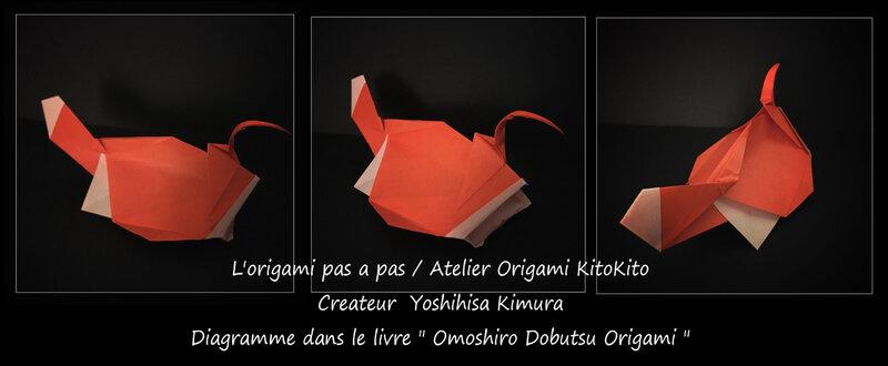 Atelier Origami KitoKito_Origami Animaux Drôles_Lotte