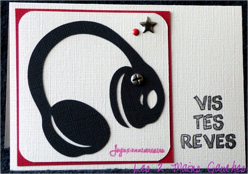 Carte D Anniversaire Ado Avec Casque Audio Photo De Cartes Ado
