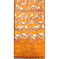 Dentelle guipure - orange et or - 5 yards
