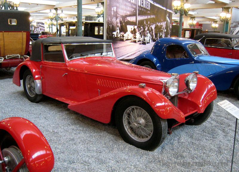 Bugatti type 57 S (carrossé par Van Den Plas) cabriolet de 1938 (Cité de l'Automobile Collection Schlumpf à Mulhouse) 01