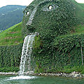 This fountain forms the entrance to the headquarters in Wattens, Austriaفي النمسا