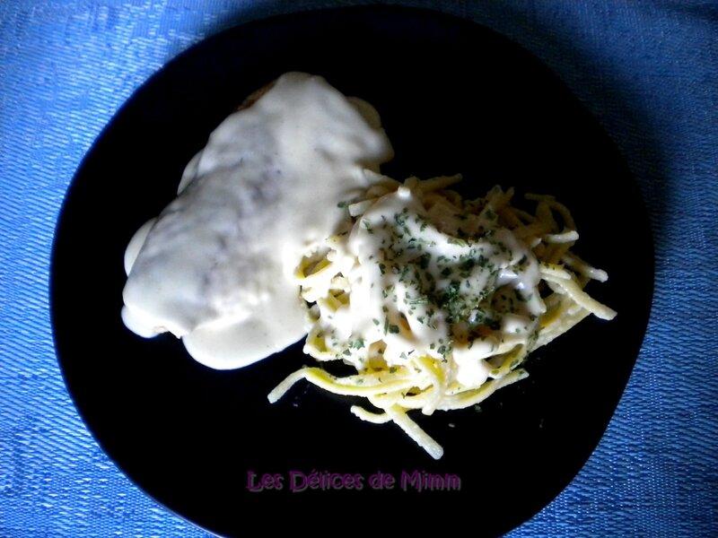 Escalopes de dinde à la crème de parmesan