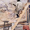 Friant (Emile), Jeanniot peignant la ligne de feu 1886