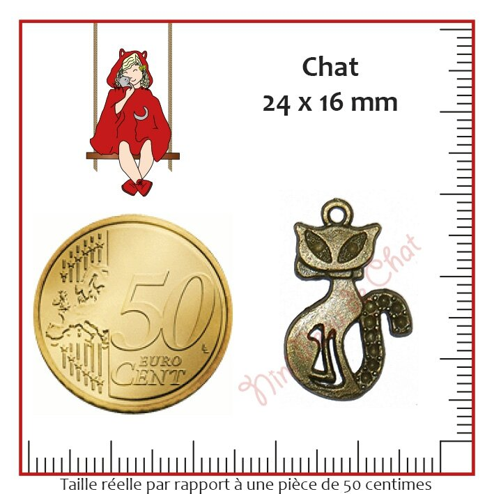 Chat 24 x 16 mm