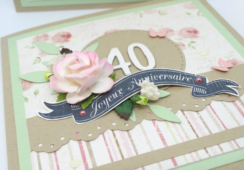 Cartes anniversaire Shabby chic 3