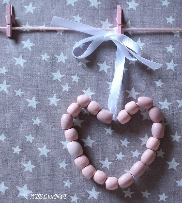 Pêle-mêle étoiles taupe pinces rose pâle4