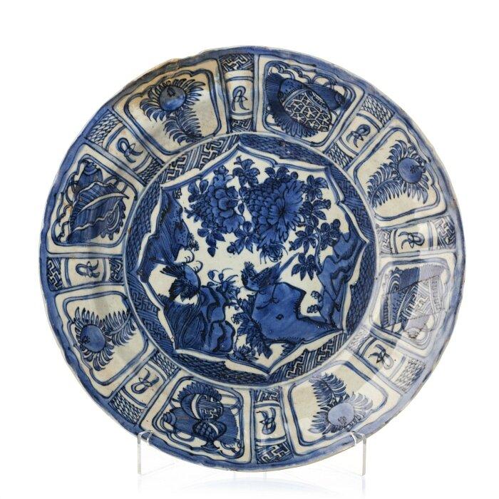 'Kraak' plate, Ming Dynasty, Wanli Reign (1563-1620)