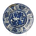 'Kraak' plate, Ming Dynasty, Wanli Reign (1563-1620)
