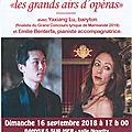 Concert du 16 septembre 2018 à banyuls sur mer