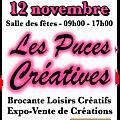 Des mini-ateliers aux puces créatives