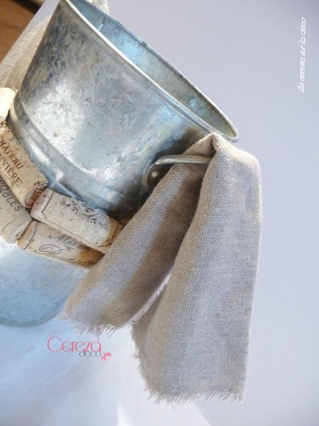 tuto DIY mariage vin vigne champêtre seau champagne cereza deco (9)