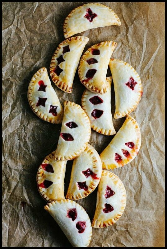 rhubarb and rose hand pies