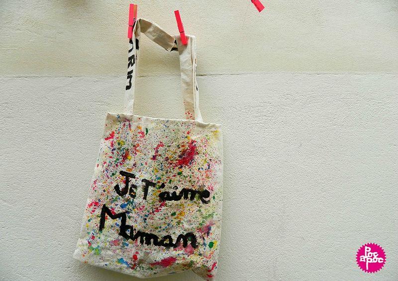 sac en tissu, tote bag,poc a poc,centre de loisirs,enfant,peinture textile,couture,activite enfant,DIY,tutorial,4 blog