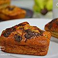 Mini-cakes à la banane et à la farine complète