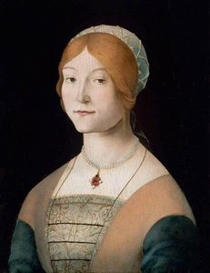 COSTA Lorenzo, Woman with a pearl necklace