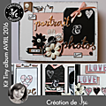 Kit atelier tiny album d'avril 2016 scrapé par is@ de belley