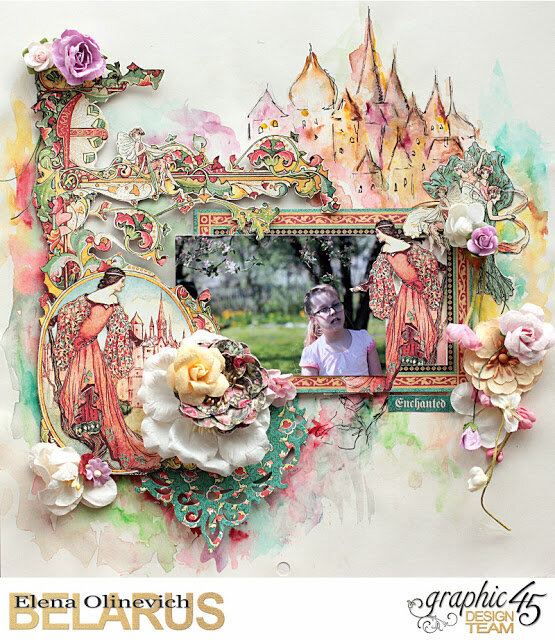 Layout, Enchanted Forest, by Elena Olinevich, product by Graphic45, photo1a