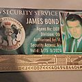 M16 Security Service card. James Bond played by Pierce Brosnan (between 1995 and 2002) Photo: Olivier Daaram Jollant © 2016