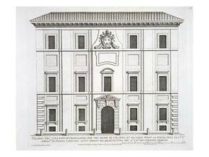 Rome Campo Marzio palazzo del collegio de propaganda fide