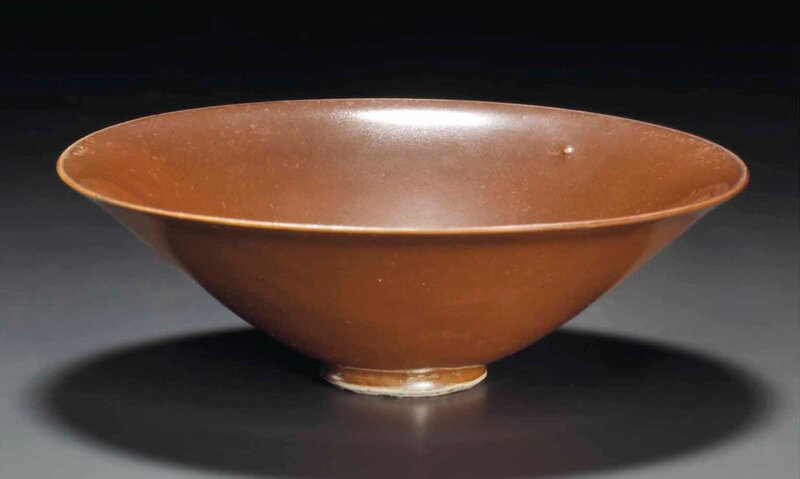 A Yaozhou persimmon-glazed conical bowl, Northern Song Dynasty (960-1127) (3)