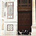 La grande porte de la mosquée des Omeyades à Damas