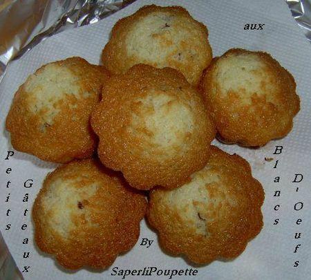 Petits Gâteaux blancs d'oeufs