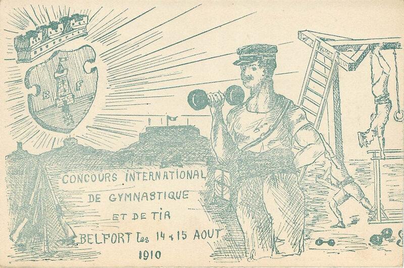 Belfort 1910 08 14 & 15 CPA Concours Gymnastique & Tir R