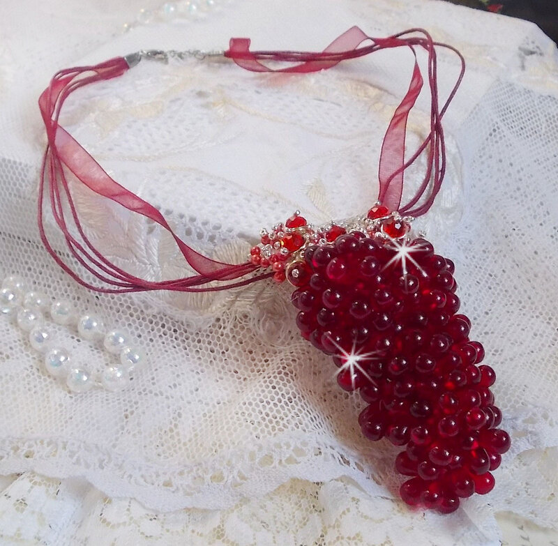 Collier pendentif Tendre Rouge 6-1