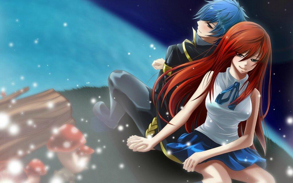 Couple Anime Fairy Tail Wallpapers Hd 1024x640 Photo De