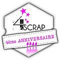 4ème anniversaire 4enscrap -eva