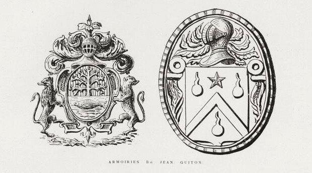 Armoirie de Jean Guiton dernier maire de La Rochelle
