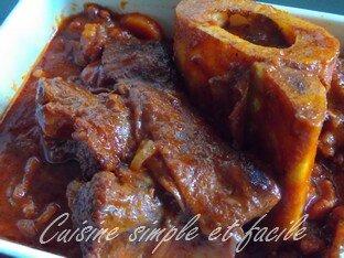 Jarret de boeuf à la sauce tomate - Cuisine simple et facile on