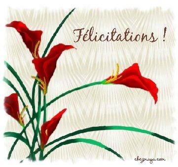 Félicitations fleurs rges