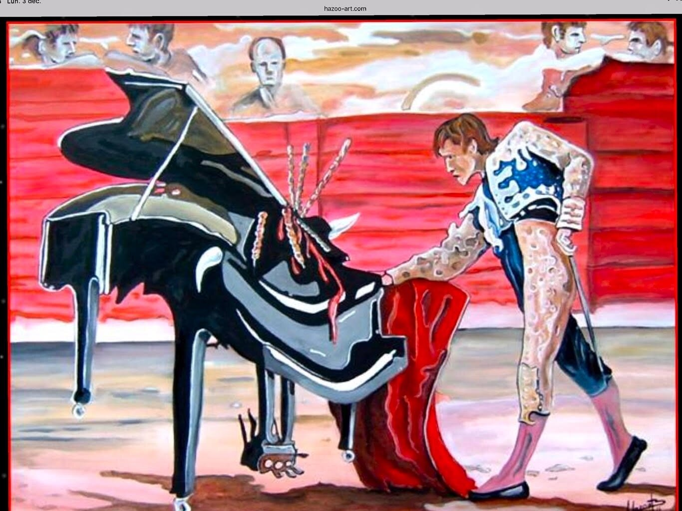 CONCERTO.....huile sur toile by Hazoo!