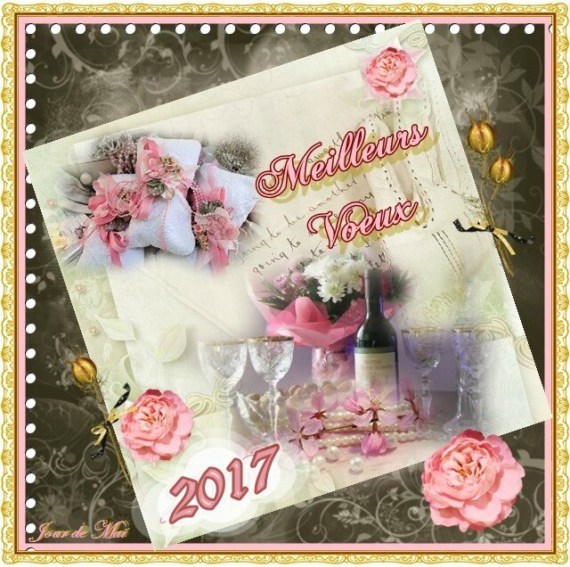 Happy New Year rose 2017