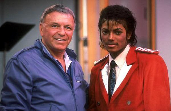 Frank Sinatra and Michael Jackson in 1984