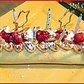 Gateau roulé à la fraise