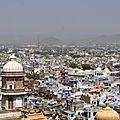 Vue depuis le City Palace d'Udaipur