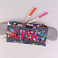 Trousse koala personnalisée couleurs prénom Liya trousse animaux forêt école maternelle pencil case personalized name colors koala