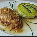 Flan d'asperges parmesan ciboulette & cocotte de poulet citronnelle-cannelle