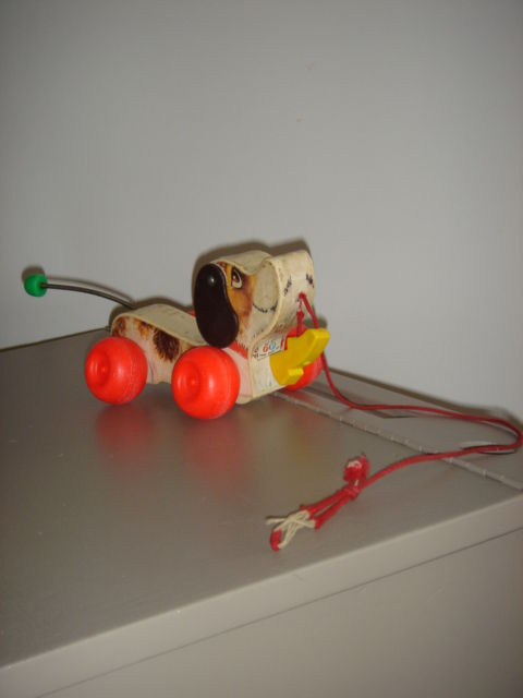 Chien Fisher Price années 70 - A VENDRE